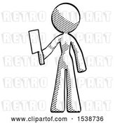 August 14th, 2018: Clip Art of Retro Lady Holding Meat Cleaver by Leo Blanchette