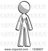 Clip Art of Retro Lady Standing Facing Forward by Leo Blanchette