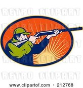 Clip Art of Retro Male Hunter Logo by Patrimonio