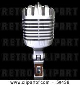 Clip Art of Retro Microphone - Version 1 by Frank Boston