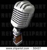 Clip Art of Retro Microphone - Version 2 by Frank Boston