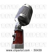 Clip Art of Retro Microphone - Version 3 by Frank Boston