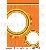 Clip Art of Retro Orange Background with Yellow and Brown Circles and Text Space by MilsiArt