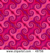 Clip Art of Retro Pink Curl Pattern Backgrouns by Arena Creative