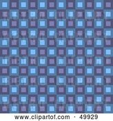 Clip Art of Retro Purple and Blue Square Patterned Background by Arena Creative