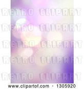 Clip Art of Retro Purple and Pink Abstract Bokeh Flare Background by KJ Pargeter