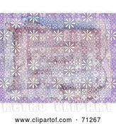Clip Art of Retro Purple Background Styled Tiles and White Daisies by Steve Klinkel