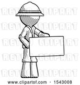 Clip Art of Retro Ranger Guy Presenting Large Envelope by Leo Blanchette