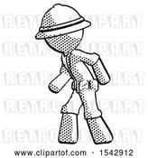 Clip Art of Retro Ranger Guy Suspense Action Pose Facing Left by Leo Blanchette