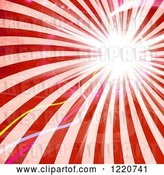 Clip Art of Retro Red Rays with Light Flares by Arena Creative