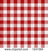 Clip Art of Retro Seamless Background Pattern of Red and White Plaid Tablecloth by Arena Creative