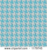 Clip Art of Retro Seamless Blue and White Houndstooth Pattern by Arena Creative