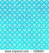 Clip Art of Retro Seamless Bright Gradient Blue Damask Background by Arena Creative