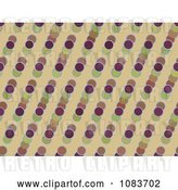 Clip Art of Retro Seamless Circle Diagonal Pattern Background by Chrisroll