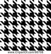 Clip Art of Retro Seamless Houndstooth Pattern Texture Background by Arena Creative