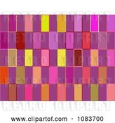 Clip Art of Retro Seamless Pink Rectangle Pattern Background by Chrisroll