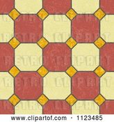 Clip Art of Retro Seamless Tile Floor Texture Background Pattern by Ralf61