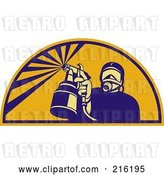 Clip Art of Retro Spray Painter Logo - 1 by Patrimonio