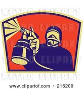 Clip Art of Retro Spray Painter Logo - 2 by Patrimonio
