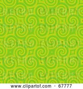Clip Art of Retro Trendy Spiraling Green Pattern Background by Arena Creative