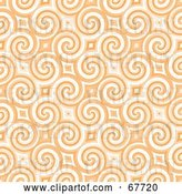 Clip Art of Retro Trendy Spiraling Orange Pattern Background by Arena Creative