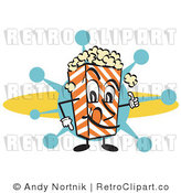 Clip Art Popcorn Guy Royalty Free Retro Vector by Andy Nortnik