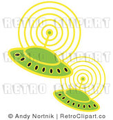 Clip Art UFOs Royalty Free Retro Vector by Andy Nortnik