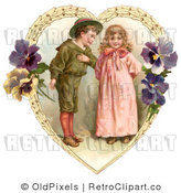Retro Royalty Free Victorian Couple Vector Clipart by OldPixels