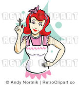 Royalty Free Retro Red Headed Mother Wagging Her Finger by Andy Nortnik