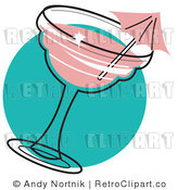 Royalty Free Retro Vector Clip Art of a Cocktail by Andy Nortnik