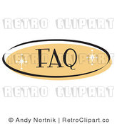 Royalty Free Retro Vector Clip Art of a FAQ Website Button by Andy Nortnik