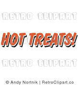 Royalty Free Retro Vector Clip Art of a Hot Treats Restaurant Sign by Andy Nortnik