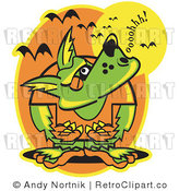 May 12nd, 2011: Royalty Free Retro Vector Clip Art of a Howling Werewolf by Andy Nortnik