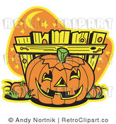 May 26th, 2011: Royalty Free Retro Vector Clip Art of a Jackolantern by Andy Nortnik