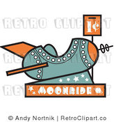 Royalty Free Retro Vector Clip Art of a Moonride Rocket by Andy Nortnik