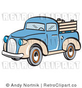 May 4th, 2011: Royalty Free Retro Vector Clip Art of a Pickup Truck by Andy Nortnik