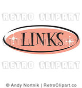 May 15th, 2011: Royalty Free Retro Vector Clip Art of a Pink Links Website Button by Andy Nortnik