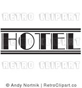Royalty Free Retro Vector Clip Art of a Retro Hotel Sign by Andy Nortnik