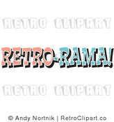 Royalty Free Retro Vector Clip Art of a Retro Rama Sign by Andy Nortnik