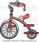 Royalty Free Retro Vector Clip Art of a Retro Trike by Andy Nortnik