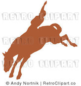 Royalty Free Retro Vector Clip Art of a Rodeo Cowboy by Andy Nortnik