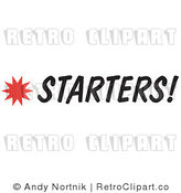 Royalty Free Retro Vector Clip Art of a Starters Sign by Andy Nortnik