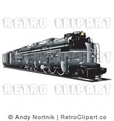 Royalty Free Retro Vector Clip Art of a Train by Andy Nortnik