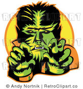 May 11th, 2011: Royalty Free Retro Vector Clip Art of a Werewolf by Andy Nortnik