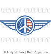 Royalty Free Retro Vector Clip Art of a Winged Peace by Andy Nortnik