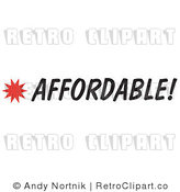 Royalty Free Retro Vector Clip Art of an Affordable Sign by Andy Nortnik