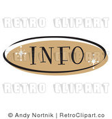 Royalty Free Retro Vector Clip Art of an Info Web Button by Andy Nortnik