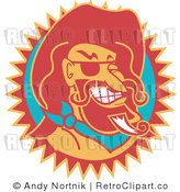 Royalty Free Retro Vector Clip Art of Wild Bill Hickock by Andy Nortnik