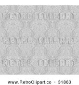 Vector Clip Art of a Grayscale Retro Seamless Middle Eastern Motif Background Pattern That Can Repeat Indefinitely by AtStockIllustration