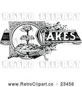 Vector Clip Art of a Retro Cakes Recipe Label by Prawny Vintage